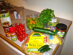 ingredients for Mexican Lasagna