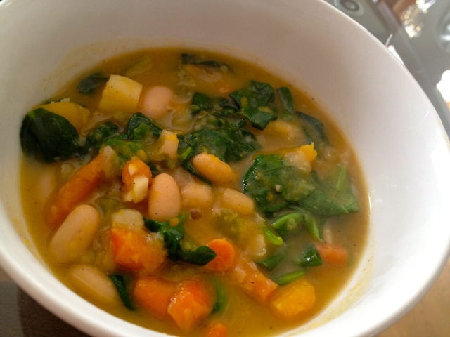 White Bean & Butternut Squash Ginger Stew