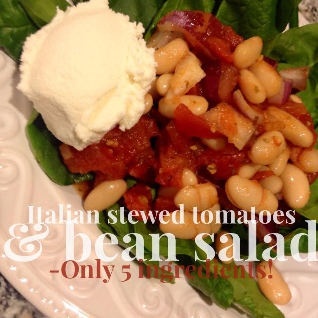 Italian Stewed Tomatoes & Bean Salad