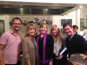 Josh, Joellen, Maureen, Kerri & Brent at Stonewall Kitchen Holiday Baking with The Fabulous Beekman Boys!