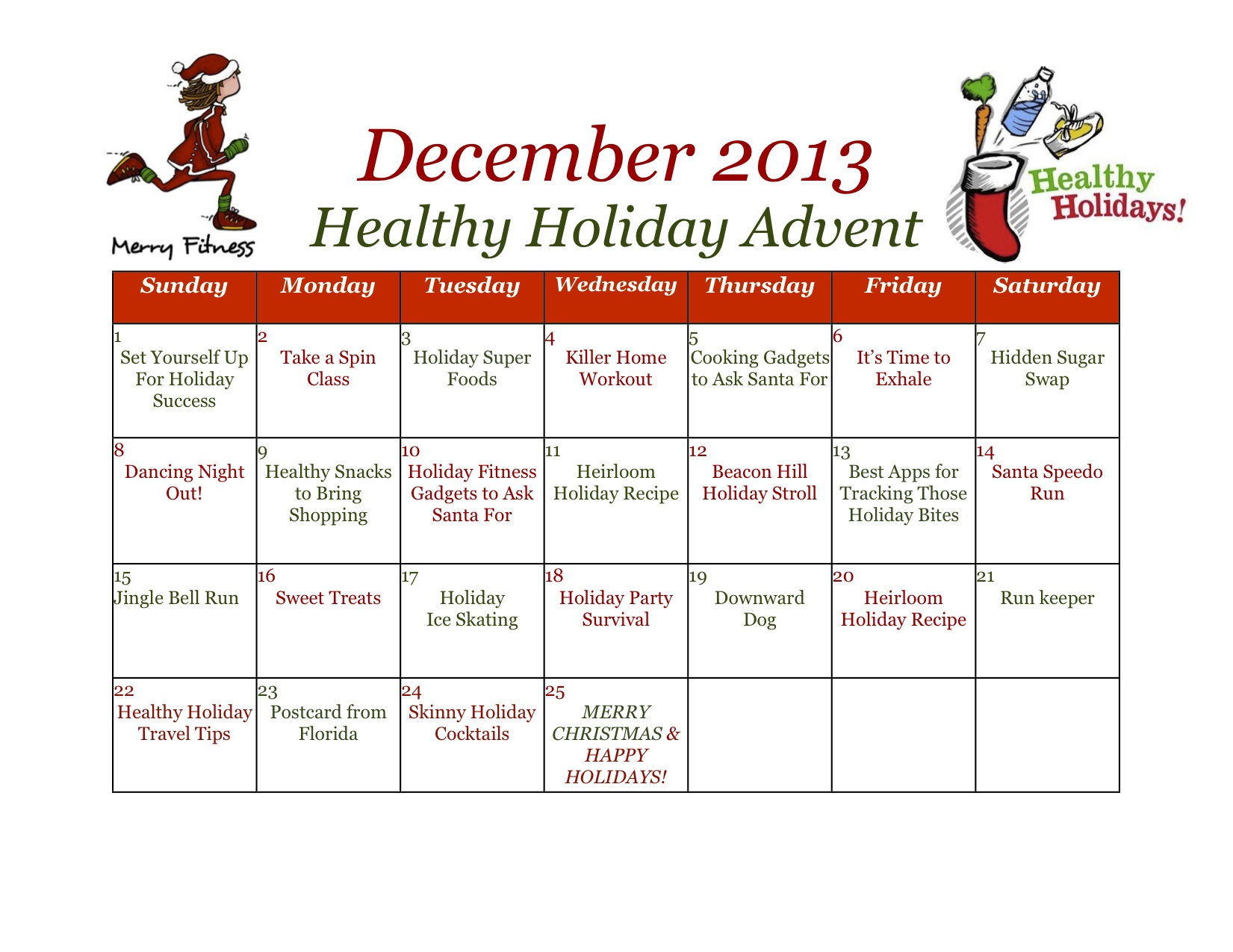 Merry Fitness & Healthy Holidays! | Dietitian Drive