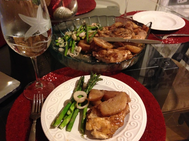 Sautéed Chicken With Pear