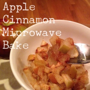 Apple Cinnamon Microwave Bake