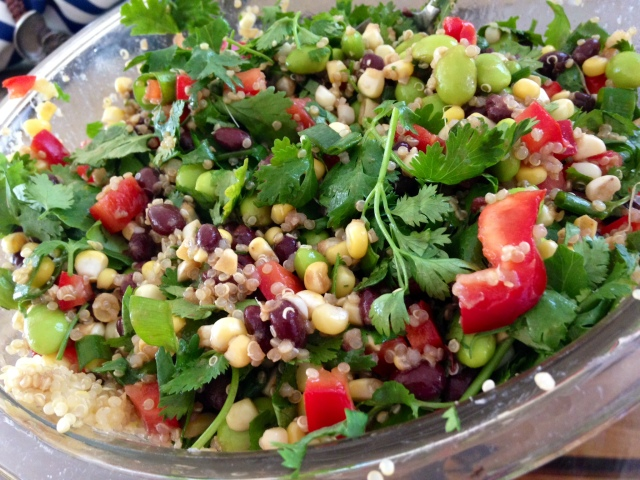 Quinoa Salad with Corn & Edamame