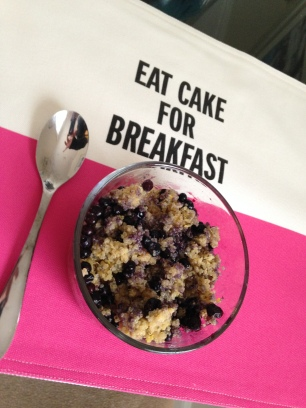 Lemony Blueberry Quinoa Breakfast